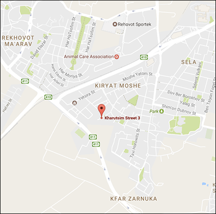 Tour Engine Israel Office Map